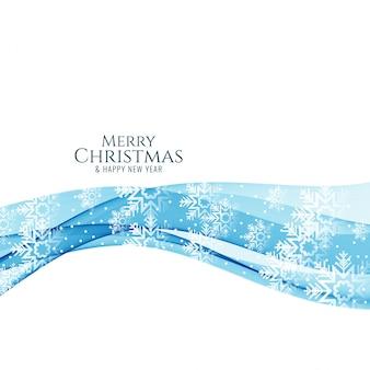 Ehrfürchtiger dekorativer wellenhintergrund der frohen weihnachten