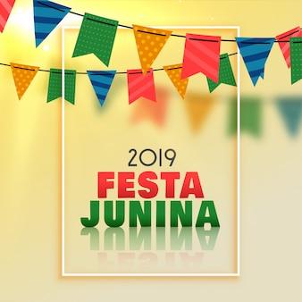 Ehrfürchtiger festa junina feierhintergrund