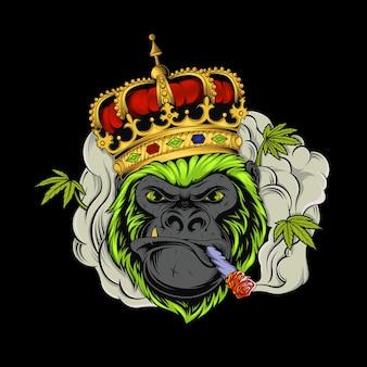 Ehrfürchtiger gorillakönig, medizinische marihuana-zigaretten
