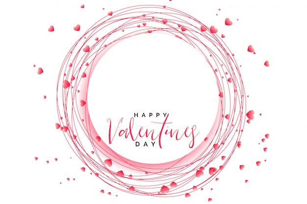 Ehrfürchtiger herzrahmen für valentinsgrußtag