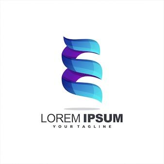 Ehrfürchtiges buchstabe e-logo