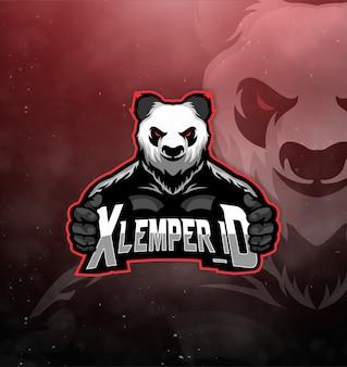 Ehrfürchtiges panda-logo für den sport