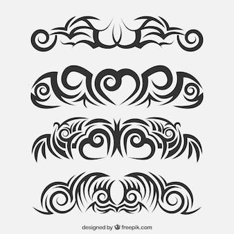 Ehtnic tribal tattoo sammlung