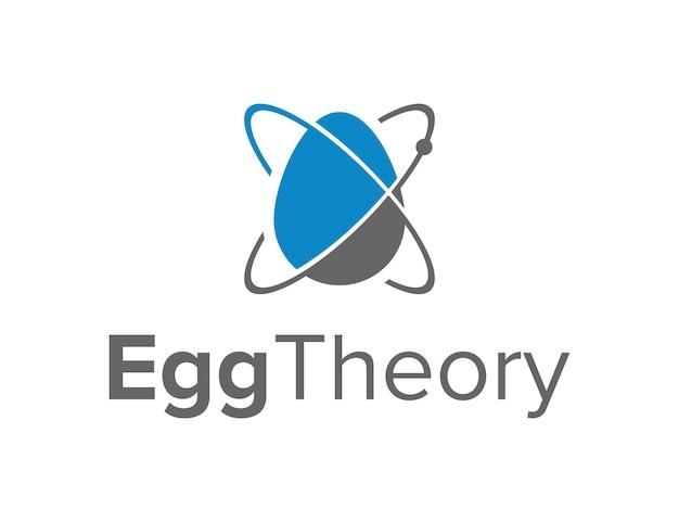 Ei und theorie wissenschaft kurve raum einfaches kreatives geometrisches schlankes modernes logo-design