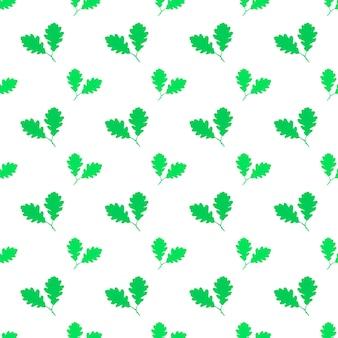 Eichenblatt nahtlose muster. vektorillustration für hintergründe