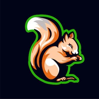 Eichhörnchen maskottchen logo illustration