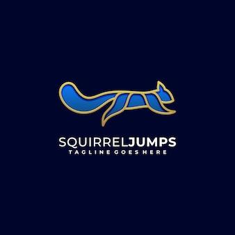 Eichhörnchen springen illustrationsvektor designschablone