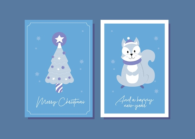Eichhörnchen-weihnachtskartenillustration