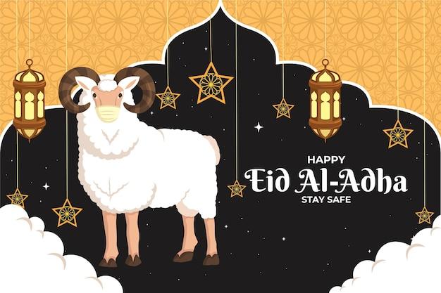 Eid al-adha feier illustration