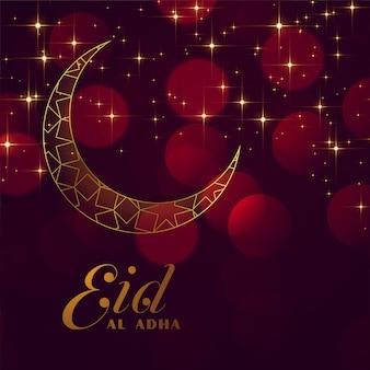 Eid al adha festival funkelnden hintergrund