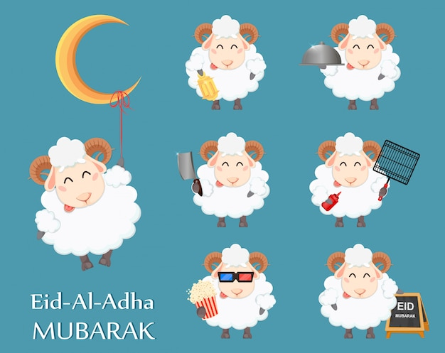 Eid al adha mubarak grußkarte