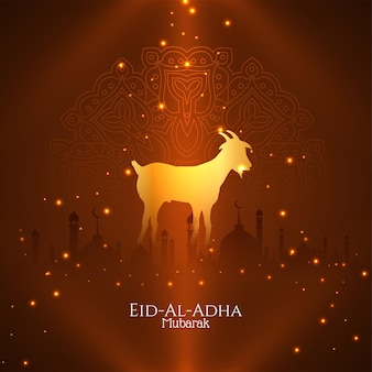 Eid al adha mubarak islamische kultur bakrid hintergrundvektor