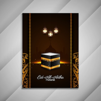 Eid al adha mubarak religiöse islamische broschüre