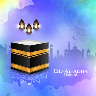 Eid-al-adha mubarak schöne islamische grußkarte