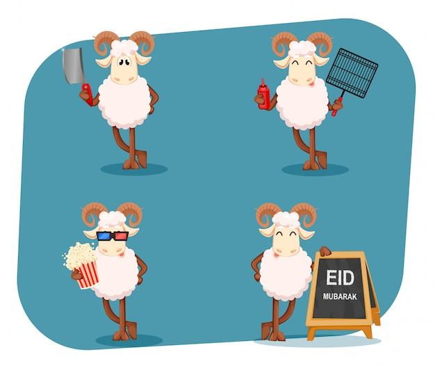Eid al-adha mubarak. traditioneller muslimischer feiertag