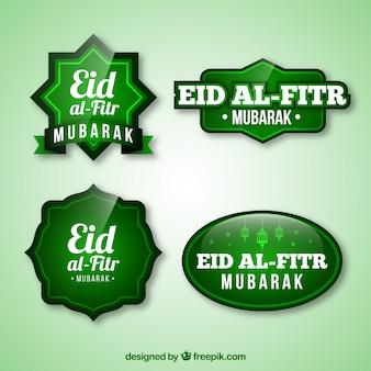 Eid al fitr logo kollektion