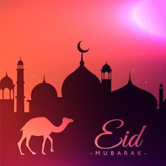 Eid festival gruß hintergrund