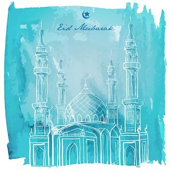Eid mubarak banner gruß hintergrund