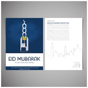 Eid mubarak broschüre entwurf