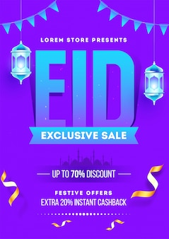 Eid mubarak exclusive sale banner design