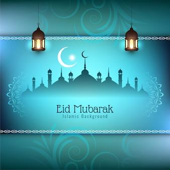 Eid mubarak festivalgrußhintergrund