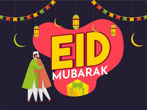Eid mubarak festivalkonzept.