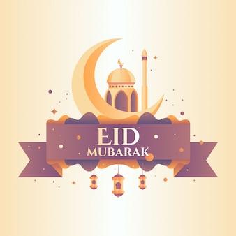 Eid mubarak gruß illustration