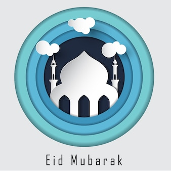 Eid mubarak islamische schöne entwurfsschablone
