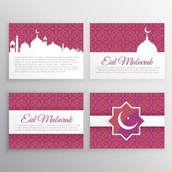 Eid mubarak karten set