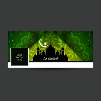 Eid mubarak künstlerische facebook timeline abdeckung
