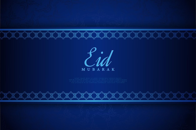 Eid mubarak luxus blauen hintergrund