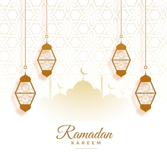 Eid mubarak ramadan kareem festival karte design