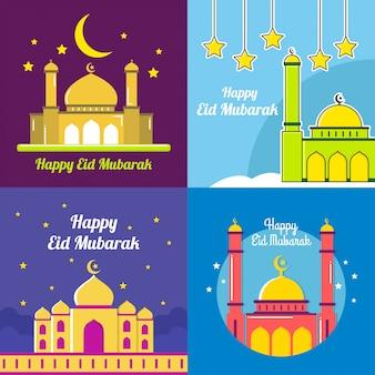 Eid mubarak vektor-illustration