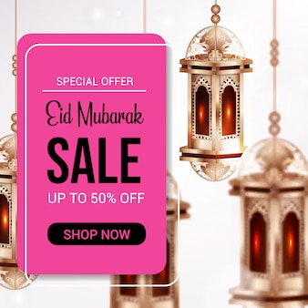 Eid mubarak verkauf banner vorlage