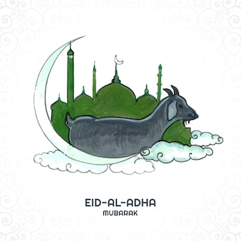 Eid-ul-adha konzept schöner kartenhintergrund