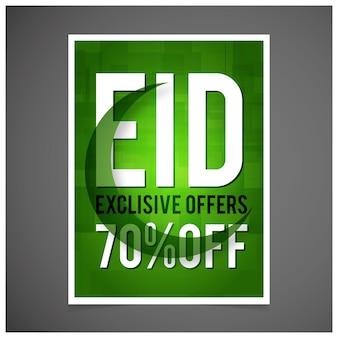 Eid verkauf green flyer