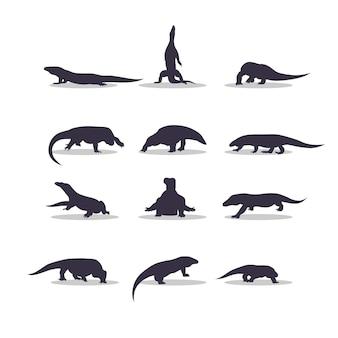Eidechse silhouette vektor-illustration design überwachen