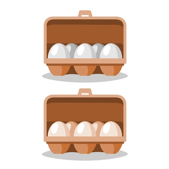 Eier sind in einem papierkasten.