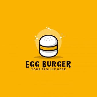 Eierburger-logo mit flachem design