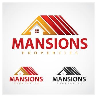 Eigenschaften symbol mansion logo design-vorlage