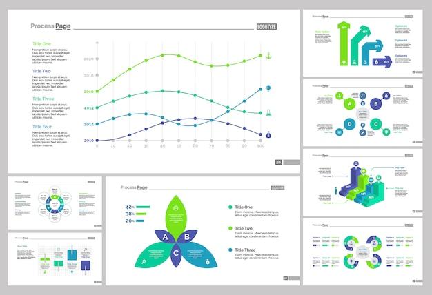 Eight analytics slide vorlagen set