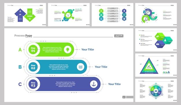 Eight management slide vorlagen set
