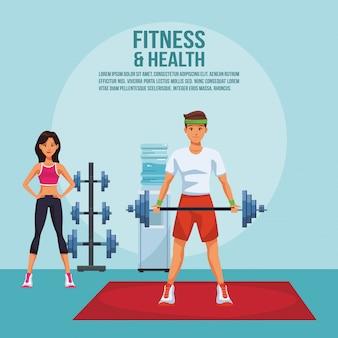 Eignungs- und gesundheitsplakat mit informationen und elementen vector illustrationsgrafikdesign