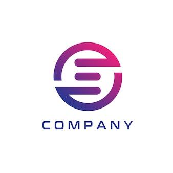 Ein abstrakter und moderner e logo design