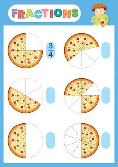 Ein arbeitsblatt für mathematische brüche