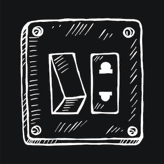 Ein / aus-schalter im doodle-stil