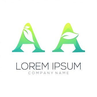 Ein blatt logo abstrakt