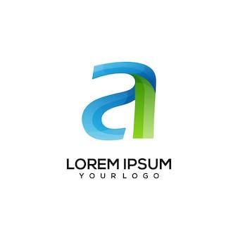 Ein brief-logo-design bunt