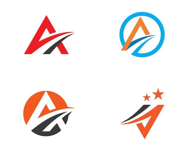 Ein brief schneller logo-vorlage