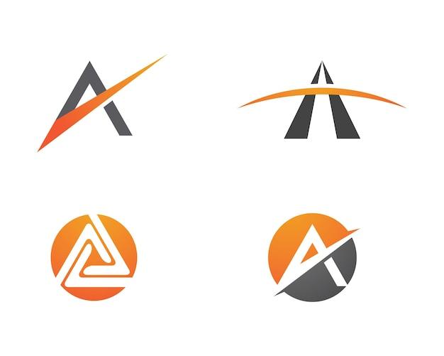Ein brief-vektor-illustration-symbol logo-vorlagen-design